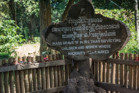 The Killing Fields in Phnom Penh - a site of tremendous pain and suffering